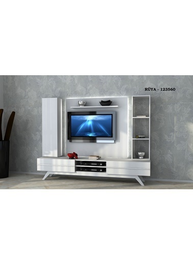 Sanal Mobilya Rüya 123560 Tv Ünitesi Beyaz Beyaz